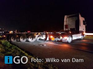 Botsing vrachtwagen en personenauto N59 Oude- Tonge