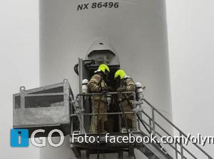 Brandmelding windmolen Oostplaatseweg in Middelharnis