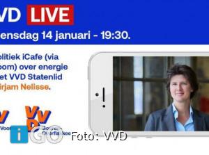 Politiek iCafe met VVD Statenlid Mirjam Nelisse over Energie
