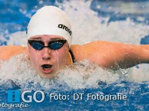 Elise Tanis zwemt twee Nederlands records 18 jaar