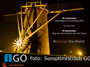 Soroptimistclub GO sluit 'Orange the World' af op dag rechten vd mens