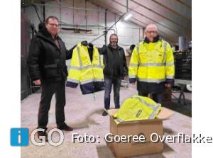 Winterjassen voor vrijwilligers Voedselbank Goeree-Overflakkee