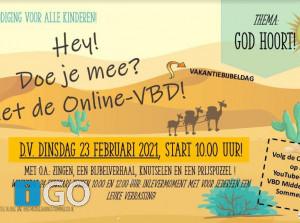 Online VakantieBijbelDag - alle kinderen Goeree-Overflakkee welkom!