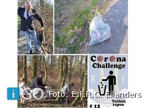 Rugbyers E.F.R.C. Eilanders rapen vuilnis op Goeree-Overflakkee