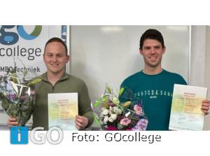 Vier vakmannen met een diploma in techniek Oude-Tonge