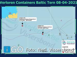 Weer vijf containers vol afval in de Noordzee