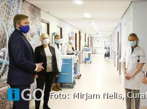 Koning Willem Alexander bezoekt Het Van Weel-Bethesda Ziekenhuis