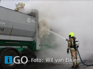 Brand machinemotor bedrijf Groeneweg Nieuwe-Tonge