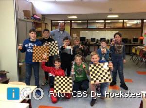 Eigen schaaktoernooi CBS De Hoeksteen weer groot succes