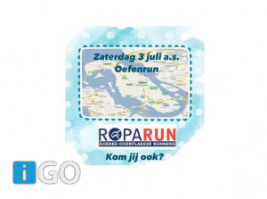 Oefenrun za 3 juli: team 159 de Goeree Overflakkee Runners