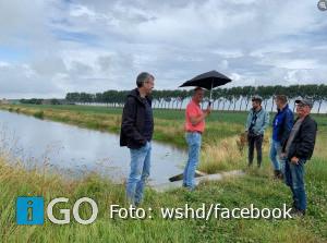 Bestuurder Mollema brengt bezoek Zoetwaterkanaal Goeree-Overflakkee