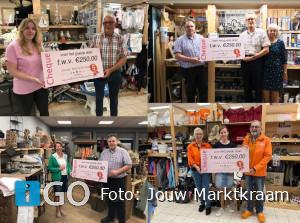 Jubileumcheques Jouw Marktkraam voor goede doelen Goeree-Overflakkee