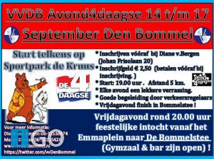 Loop de Avondvierdaagse in Den Bommel
