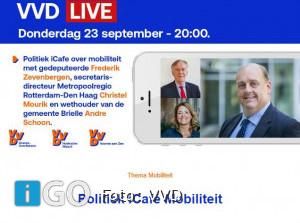 VVD iCafé over mobiliteit met gedeputeerde Zevenbergen