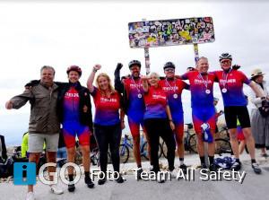 Team All Safety haalt 21.300,00 euro op voor KWF