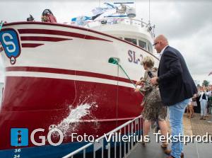 Doop nieuwe kotter Zeevisserijbedrijf Van Seters bij Padmos Stellendam