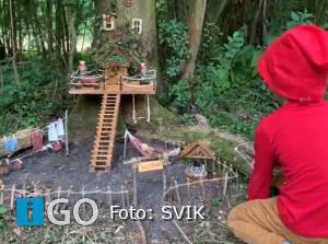 Kabouterspoor door Dirksland tijdens de Herfstvakantie