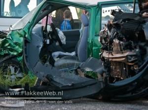 Vrouw gewond na aanrijding N57 Ouddorp
