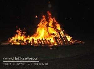 Branden en aanhouding  tijdens Koninginnenacht 2010