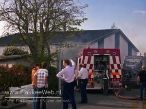 Brand in loods Molenweg