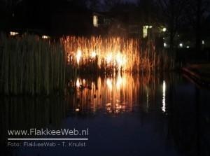 Riet in brand bij Samaritaan Sommelsdijk