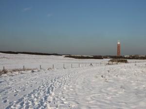 Sneeuw bedekt Goeree-Overflakkee