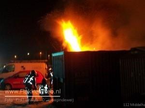 Brand met chemicaliën