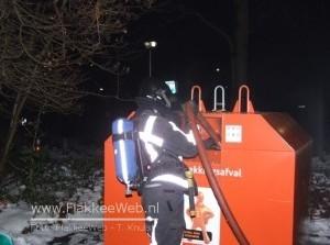 Plasticcontainer Kon. Julianaweg opnieuw in brand