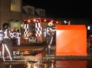Opnieuw plasticcontainer in brand (met video)