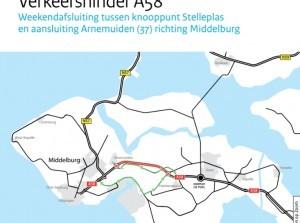 Onderhoud en verkeershinder A58, N57 en N59 Zeeland en Zuid-Holland