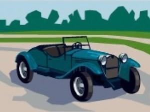 Oldtimerrit en presentatie oude auto's