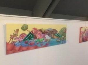 Kobie Bos exposeert vierde maalin VVV-kantoor Ouddorp