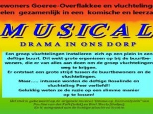 Bewoners en vluchtelingen organiseren samen musical: Drama in ons dorp