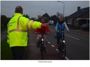 Waterschap houdt fietslampenactie in Middelharnis