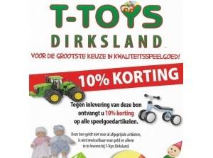 T-Toys Dirksland viert haar 10 jarig jubileum