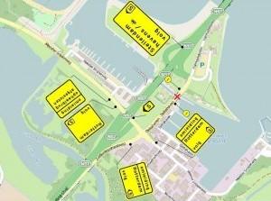 Afsluiting ophaalbrug Deltahaven Stellendam