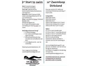3e editie van Start to Swim en 16e Zwemloop Dirksland