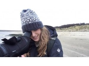 Biologe en vlogster Camilla Dreef bij Kwade Hoek Stellendam