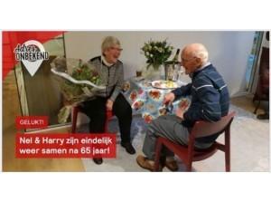 Nel en Harry na 65 jaar weer samen