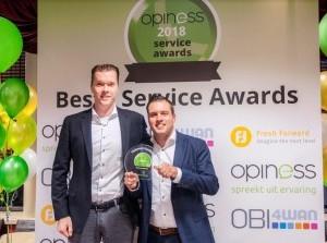 Tieleman winnaar Beste Service Award Keukenbranche 2018