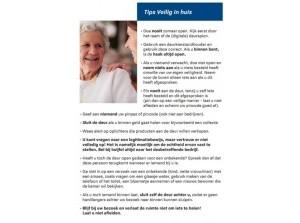 Politie waarschuwt ouderen voor babbeltrucs
