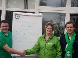 Ons Huis Herkingen blij met hulp CDA Goeree-Overflakkee