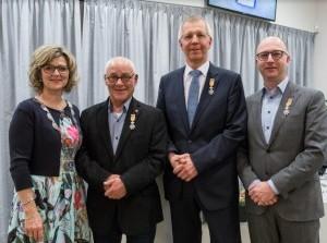 Drie scheidende raadsleden benoemd tot Lid in de Orde van Oranje-Nassau
