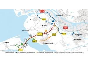 32 km asfalt vervangen: nachtelijke en weekendafsluitingen N57