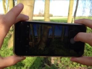 Fotograferen met je smartphone in Scheelhoekbos Stellendam
