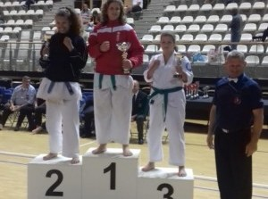 Hanne Kom 3e tijdens het NK van het NFCKO