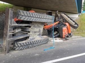 Kranen blijken te hoog voor viaduct Oude-Tonge N498