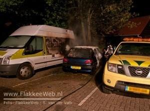 Autobrand Koningin Julianaweg Middelharnis
