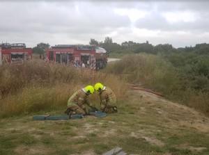 Grote brand duingebied nabij Melissant