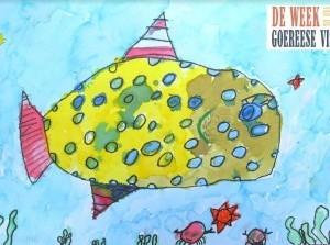 5-jarig jubileum Week Goereese Vis: feestelijke vlag en 'vis uut 't vuustje'